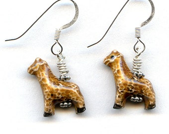Giraffes Sterling Silver Earrings