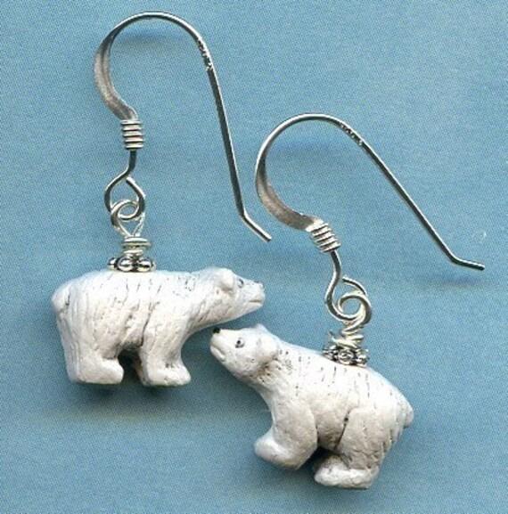Polar Bear Pals Sterling Silver Earrings