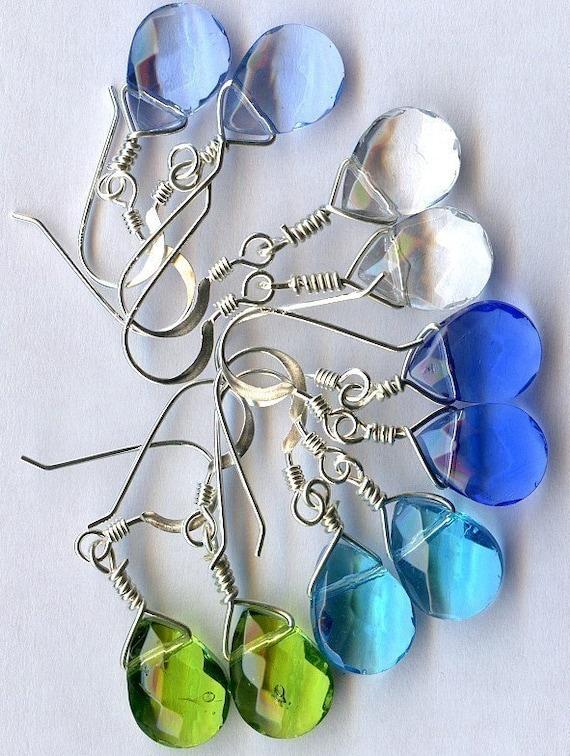 Ocean Tears Sterling Silver Earings