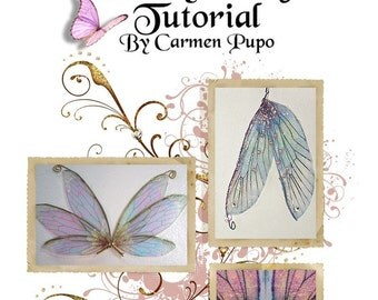 OOAK Fairy Dolffie 13 Sheets of Beautiful Wings and Wing Making Tutorial File