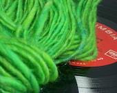 Green-Gone Firefly Handspun Yarn Wool, Angelina, Firestar