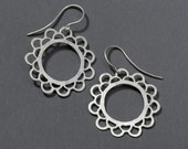 small doily earrings