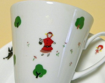 Fairytale Cup and Saucer Set - The Little Red Riding Hood