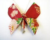 Origami Butterfly Fabric Ornament