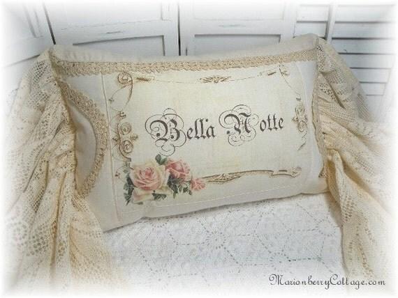 Romantic Cottage pillow Bella Notte Beautiful Night