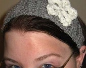 Grey with White Lace flower (Headband or necklace choker)