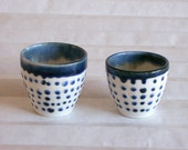 Blue Spotted Porcelain Cup