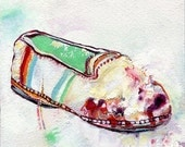 Painting of a Shoe, Original Oil Paintings online, Small, Contemporary Art on Etsy