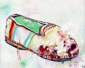 Contemporary Painting Reproduction, Ballet Flat, Painting of Shoes, Oil Painting Art Print