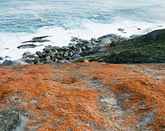 Australia, Coastal Photography, Kangaroo Island, Pacific Ocean, 8x10 Print, Rocks at the Edge of Australia