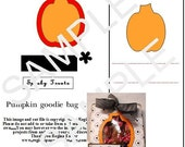PRINTABLE OR DOWNLOADABLE WPC FILE PUMPKIN GOODIE BAG HOLDER..GREAT FOR PAZZLES MACHINE