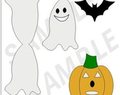 13 PIECE HALLOWEEN SET OF PRINTABLES AND DOWNLOADABLES...WPC, PDF FORMATS..GREAT FOR PAZZLES AND SCAL