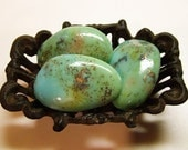 The Trio (Small)  Tumbled Turquoise Soap