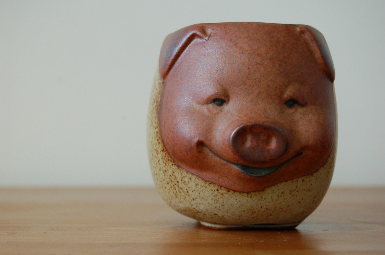 vintage stoneware little PIG coffee mug. by ...