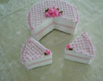 Pink Chenille Cake, Display Cake