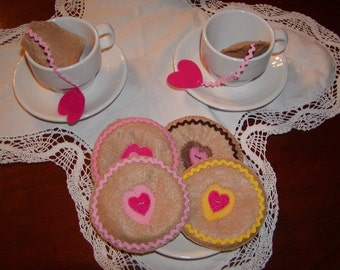 Felt Cookies for Pretend Play, Tea Party