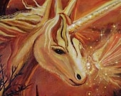 Finding The Way Home - Unicorn and Fairy Art ACEO