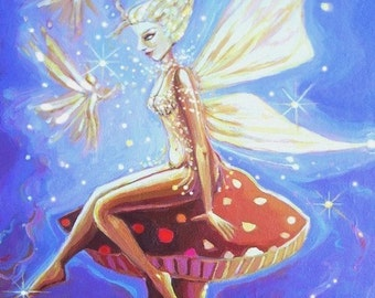 Cloud Sprites - Fairy Art ACEO/mini print