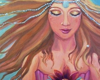 Mermaid Wish - 5 x 7 Mermaid Art Print