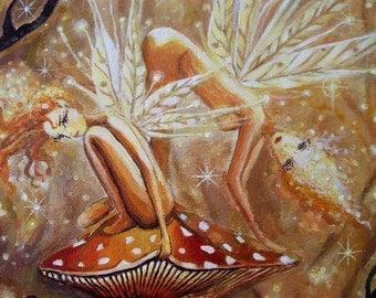 Earth Sprites - Fairy Art Limited Edition Print 5 x 7