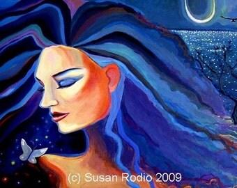 Piscean Moon - Goddess Art Print.