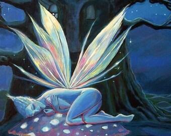 Wood Spirit - Fairy art ACEO\/mini print