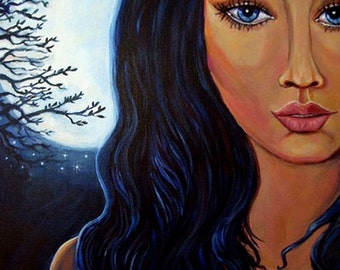 Goddess Of Moon and Stars  5 x 7 Print