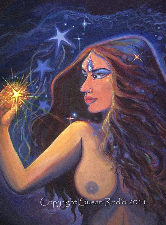Star Goddess Fantasy Art 4x6 Print