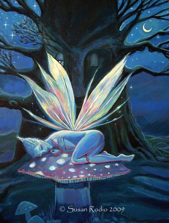 Wood Spirit - Fairy art print - 5 x 7