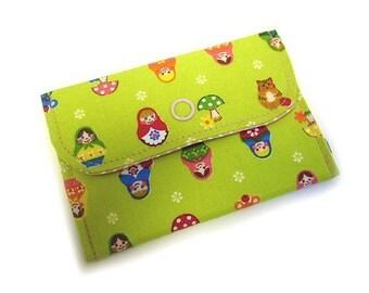 SALE Kawaii matryoshka card case