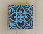 Wall Art - Pattern & Texture Clay Tile Mounted Wall Art - Turqoise Colorful Pottery Mosaic Home Decoration