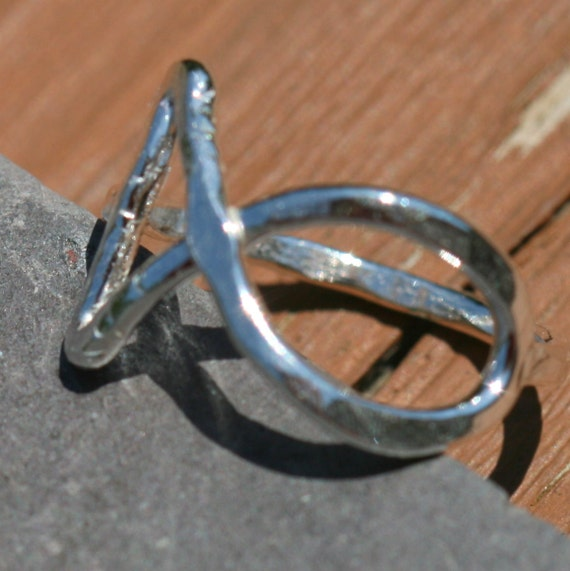 Jesus Fish Ring US Size 7 in Fine Silver by Maggie McMane Designs