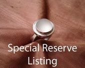 Frosted Quartz Sterling Silver Ring - Size 6 1/2