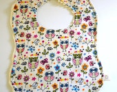 Retro owls bib