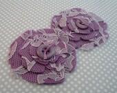 Violet - Lace and Felt Flowers