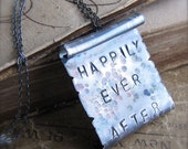 Happily Ever After Sterling Silver Scroll Necklace