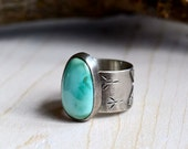 Turquoise and Sterling Silver Songbird Ring, HOME