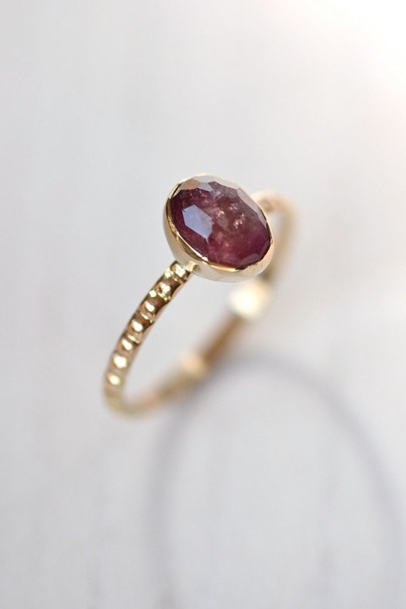 14kt Recycled Gold Tourmaline Ring