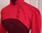 Ultra Crop Jacket in Red