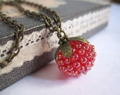 Sweet Rasberry Nature Necklace