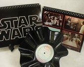 STAR WARS Soundtrack - 2 Recycled Record Bowls & 2 Journals Gift Set