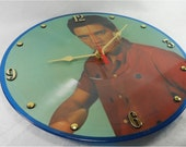 ELVIS PRESLEY Recycled Record Clock - A Legendary Performer Vol. 3 Picture Disc