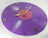 The COLOR PURPLE Recycled Record Vinyl Wall Clock - Purple Vinyl - Motion Picture Soundtrack