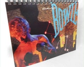 DAVID BOWIE - Let's Dance - Recycled Record Album Jacket Sketch Book Journal