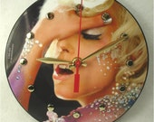 "LADY GAGA 7"" Vinyl Record Clock - ""LoveGame"" Recycled Picture Disc Record"