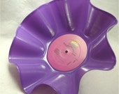 The COLOR PURPLE - Movie Soundtrack - Recycled Record Chip Bowl - Purple Color Vinyl