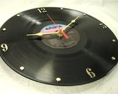 WHITNEY HOUSTON Recycled Vinyl Record Wall Clock - Self Titled Debut 1985