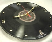 RUSH Exit Stage Left - Recycled Vinyl Record  Wall Clock