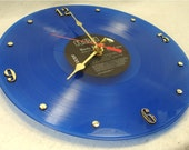 ELVIS PRESLEY Moody Blue - Recycled Record Clock - Blue Color Vinyl