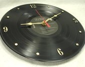 DAVID BOWIE Ziggy Stardust - Recycled Vinyl Record Wall Clock